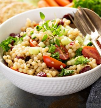 B-Well Canola pearl couscous & vegetable salad