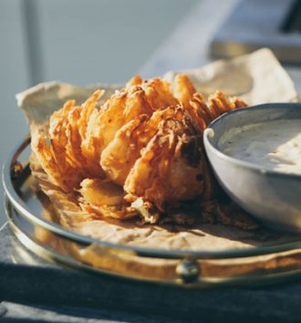 Clover Cheesy Blooming Onion