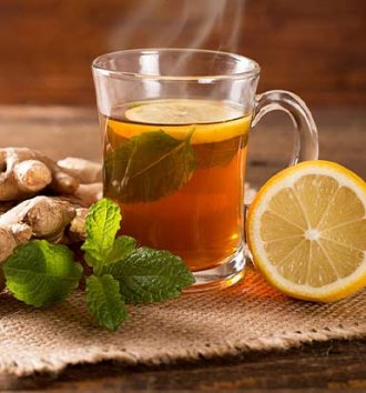Ginger, turmeric and rooibos tea